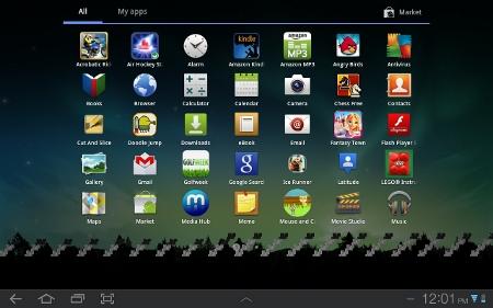 Samsung Galaxy Tab Apps