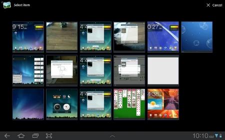 Galaxy Tab Screen Capture
