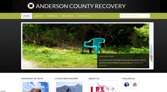 Anderson County Recovery Screenshotp