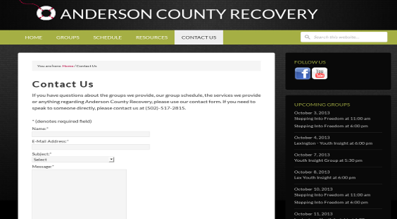 Andersonc County Recovery Screenshot2p